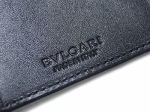 e7c11d44eb6b ブルガリ カードケース 32588 BVLGARI マチ付き 名刺入れ ウィークエンド SVロゴ コーティングキャンバス ブラックxブラック