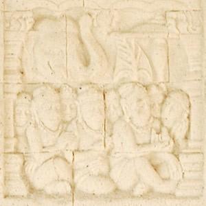 アジアン雑貨 ボロブドゥール遺跡をモチーフにしたストーンレリーフ Bタイプ