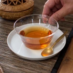 ティーカップ&ソーサー 耐熱ガラス 磁器製受け皿 220ml 電子レンジOK ガラスのみ 食器 コーヒーカップ コップ マグカップ ガラス製
