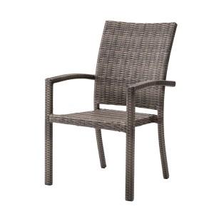 チェア ダイニングチェア ガーデンチェア 肘付き ラタン調 スタッキング [91261] 椅子 ガーデンファニチャー イス プラスチック スタッキ