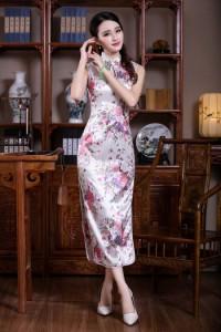 チャイナドレス ロング チャイナドレス 大きサイズ セクシー 花柄 チーパオ コスプレ ワンピース チャイナ服 結