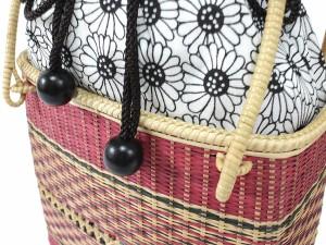 beb65cfd4f947f かごバッグ レディース 夏 バッグ 単品 浴衣 竹 編み ピンク かご 白 黒 赤 花 ひまわり 巾着 女性 バッグ カゴ 籠 手提げ レトロ