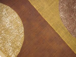 本ろうけつ染め 麻のれん  半円(赤黒・茶ひわ) 京染 麻100% ナチュラル素材 和暖簾 贈り物 日本製 癒し