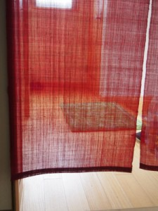 きびら麻無地のれん 120cm丈 薄紅・黒など全7色 京染 麻100% ナチュラル素材 和暖簾 贈り物 日本製