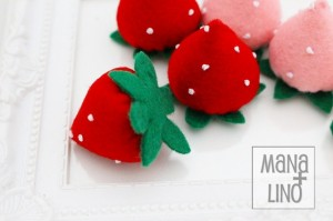 フェルトのおままごと いちご2色セット インテリア 苺 ままごと キッズ おもちゃ