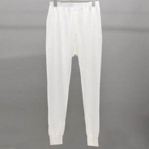メンズシルクインナー ロングアンダースラックス 裾リブ付(シルク100%) 人気商品で