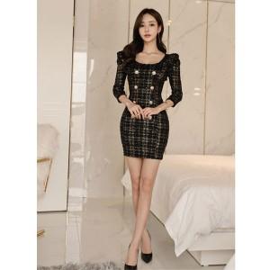 8438b538dd59b 春新作 春服 キャバ ドレス キャバドレス ワンピース S M L LL 韓国 インポートドレス