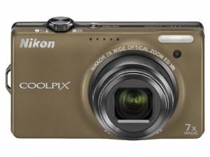 1cfe21840d Nikon デジタルカメラ COOLPIX (クールピクス) S6000 ソフトブラウン S6000(中古品)