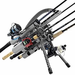 【中古】【輸入品 未使用品】Rod-Runner プロ釣り竿ラック - グレー ポータ