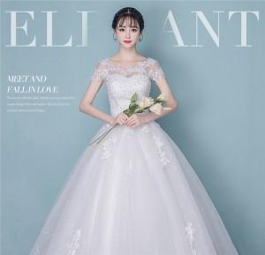 8b9a83965d2 花嫁 ウェディングドレス ロングドレス 編み上げタイプ オフショルダー 結婚式 披露宴 白ドレス/ A