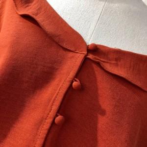 トップス レディース フリル シフォン トランペット スリーブ シャツ 半袖 ティアード 涼やか 女子会