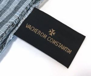 新品同様 ヴァシュロン コンスタンタン ストール マフラー メンズ ボーダー ブルー 紳士 VACHERON