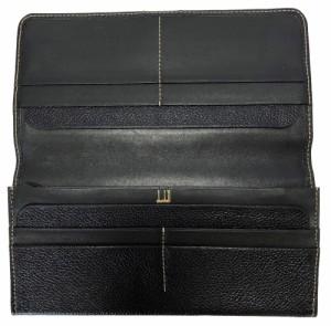 558f538ac438 美品 ダンヒル 長財布 ブラック 財布 黒 メンズ 本革 型押し レザー DUNHILL Dunhill dunhill 二つ折り長財布 二つ折り財布  薄型 紳士用の通販はWowma!