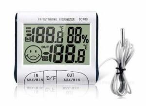 これひとつで 室内 室外 の 気温 湿度 が測れる!! 多機能 デジタル 温度計 湿度計 TEC-DO2WD