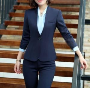 dc47f23a7479e スーツ レディース パンツスーツ ブラックフォーマル 3L 4L 5L ブラック ネイビー 就職活動 オフィス セットアップ 全店 2点送料無料の通販はWowma!