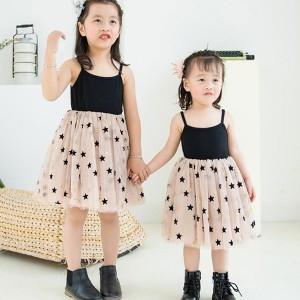 8258ea41641fc 子供ドレス キッズドレス チュールワンピース 女の子 ワンピ 可愛い 子供服 星柄 80 90 100