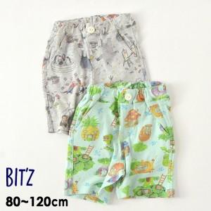 ビッツ B322011-m12m 4色2柄半パンツ キッズ ベビー ボトムス ボトム ハーフパンツ 半ズボン 総柄 子供服 Bitz 4023961