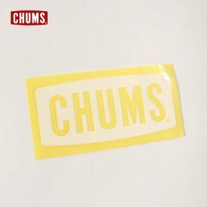 チャムス CH62-1483-Fm カッティングシート チャムスロゴM レディース メンズ チャムスボートロゴステッカー ミディアムサイズ シロ 白
