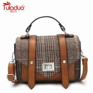 TuLaduo モダン ソフトレザー ショルダーバッグ/4色(T1847)