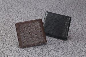 e838a1283c45 オーストリッチ革 フルポイント二つ折り札入れ 3ヶ所札入れ カード8枚収納