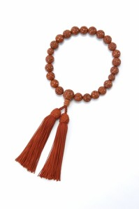 高級念珠菩提樹(12mm珠) 数珠 仏教 お参り 房は京都の正絹