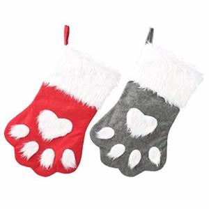 """""""クリスマスソックスのギフトバッグクリスマスの装飾クリスマス長い髪の犬の(新古未使用品)"""""""