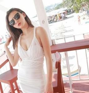 韓国 ファッション新作水着シャーリング体型カバー レディース 通販