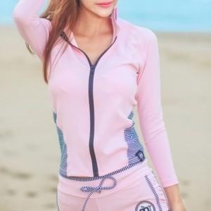 かわいい&セクシーな ラッシュガード長袖トップス×ビキニ 4点 可愛い レディース トレンド UVカット 水着の上 日焼け防止 スポーティ