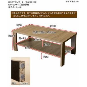 【離島・日時指定不可】KENNYセンターテーブル100x50 ABR/LBR/WAL