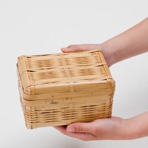 天然竹製 白竹 みやび 弁当箱 中