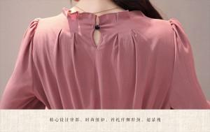 今季売れ筋☆ トレンドのくすみピンク ロング丈 ワンピース エレガント フリル袖