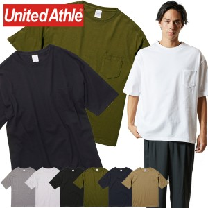 ビッグシルエット ポケット付 Tシャツ 半袖 メンズ レディース 無地 ユナイテッドアスレ 5.6オンス 5008