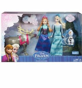 ディズニーフローズン限定 アナと雪の女王 人形セット アンナ&プリンセスエルザ&雪だ