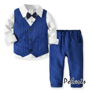 4e696d335220f カバーオール 男の子 フォーマル スーツ ドレス 上下セット春秋 4点セットアップ キッズ ベビー服 赤ん坊 子供服