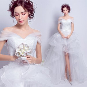 d4f2f5a39e16b ウェディングドレス パーティードレス ワンピース ドレス 韓国風 花嫁ドレス 結婚式 二次会 披露会 編み上げ