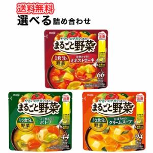 明治まるごと野菜じっくり煮込んだスープ/ミネストローネ、ポトフ、鶏だし白湯/選べるスープ 4種類【200g×6袋】4箱 送料無料