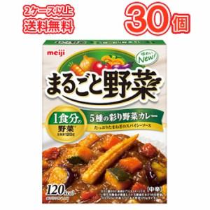 明治  まるごと野菜 5種の彩り野菜カレー レトルト食品 中辛【190g×30袋】1ケース/保存食