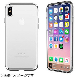 0be4b2c3ff MOTOMO iPhone X用 INO Line Infinity Clear シルバー INOLICSV