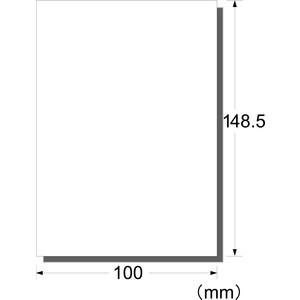 エーワン はがきサイズのプリンタラベル ノーカット 水に強い光沢白無地フィルムタイプ 4シート 29334