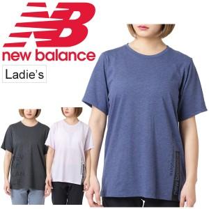 3b6949cfe340f Tシャツ 半袖 レディース ニューバランス newbalance グラフィック ヘザー テック トレーニング TEE スポーツウェア /AWT91135