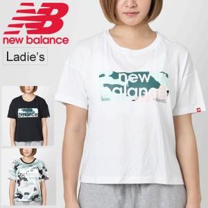 6e11799506e02 Tシャツ 半袖 レディース ニューバランス Newbalance エッセンシャル アクアカモ ボクシーTシャツ スポーツ ロゴT /AWT91583