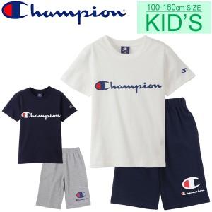 8d9f2561c5e57 キッズ 半袖Tシャツ ハーフパンツ 2点セット 上下セット ジュニア 男の子 女の子 子ども チャンピオン