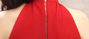 OP164 ホルターネック シンプル 2色 セクシー ワンピース ボディコン ワンピ タイトミニ キャバ パーティドレス 結婚式 披露宴 二次会
