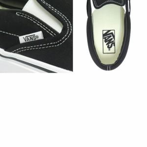 レディースサイズあり VANS SHOES バンズ シューズ スニーカー CLASSIC SLIP ON 黒 BLACK スケートボード
