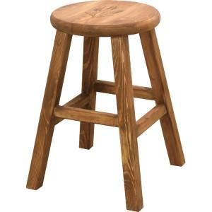 スツール おしゃれ 天然木 カントリー 座面 丸 円 型 フラワーラック 鉢置き サイドテーブル 高さ 46cm ナチュラル 椅子 新生活