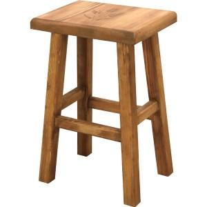 スツール おしゃれ 天然木 カントリー 角型 フラワーラック 鉢置き サイドテーブル 座面 高さ 46cm 新生活