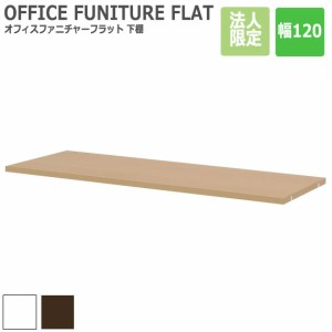 OFFICE FUNITURE FLAT オフィスファニチャーフラット 下棚 幅120cm (オプションパーツ) (デスク 追加棚 本体別売り ラック オプション