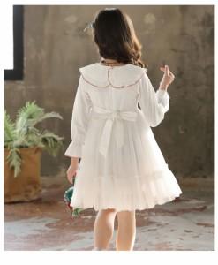 a37ea9c09b603 韓国子供服 フォーマル ワンピース ワンピースドレス 子どもドレス キッズ 女の子 春 秋 冬 衣装 ホワイト ピンク パープル 110 -160cm  の通販はWowma!