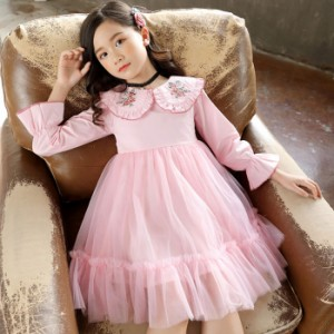cd3fae1e6df0f 韓国子供服 フォーマル ワンピース ワンピースドレス 子どもドレス キッズ 女の子 春 秋 冬 衣装 ホワイト ピンク パープル 110 -160cm