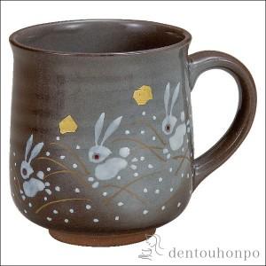 マグカップ はねうさぎ 1個 ( プレゼント デザイン マグ オリジナル タンブラー 九谷焼 結婚 出産 内祝い 引き出物 金婚式 )